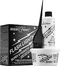 Manic Panic Flash Lightning Hair Bleach Kit - 30 Volume Cream Developer - Hair Lightener Kit for Light, Medium Or Dark Brown & Black Hair Color - Hair Bleach Powder Lifts Up To 5 Levels of Lightening