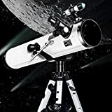 BBLTO Reflector Profesional Astronomía Telescopio 114mm, Viaje para Principiantes, niños Adulto Aluminio telescópico Soporte, para niños Regalos para Adultos