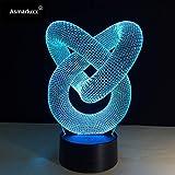 Dekoratives Licht des abstrakten Kreisspiralen-Glühlampe-Hologrammphantomfarbwechsels bestes Inneneinrichtungsnachtlichtgeschenk