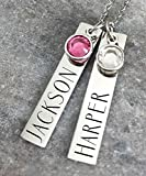 Mothers Day Gift - Personalized Necklace -...