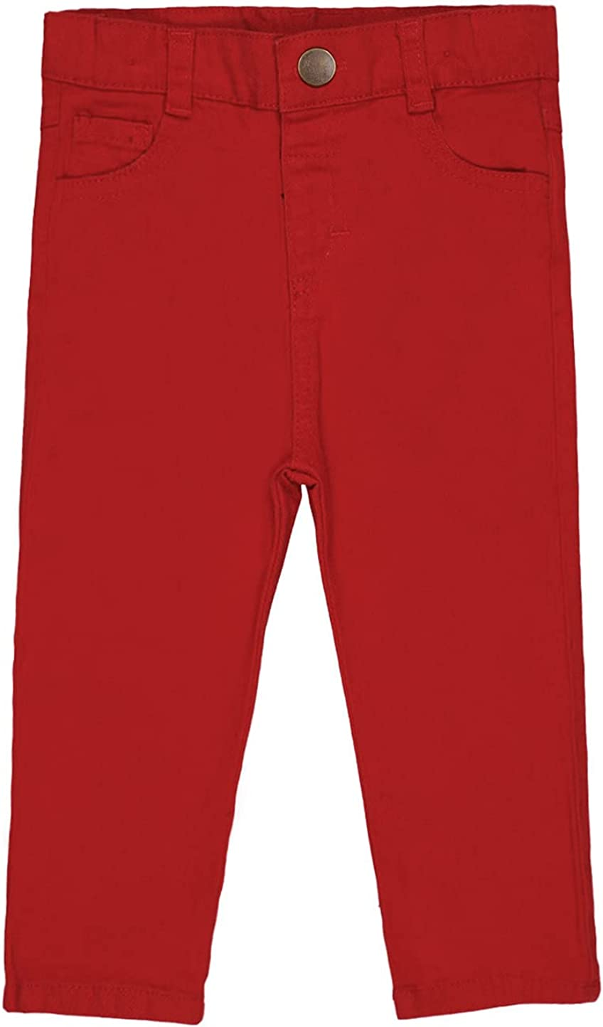 Baby boy Stretch Chino Pants Waist Elastic New product type Adjuster Clothes - Omaha Mall