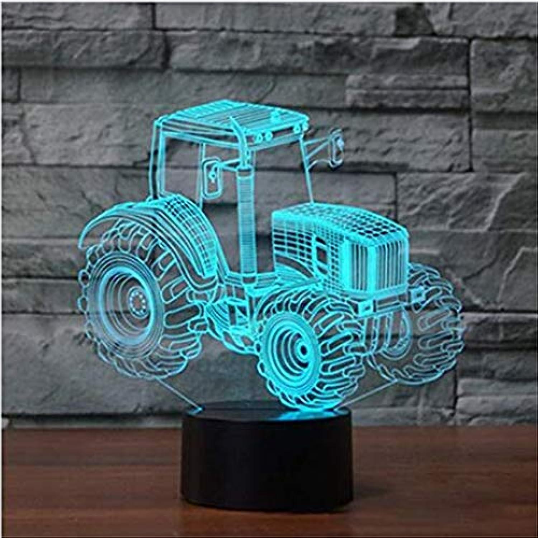 Led-leuchten Edison Lights Kreative Traktor 3D Visuelle Lampe 7 Farben ndern Auto Nachtlicht