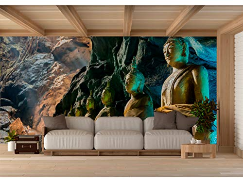 Fotomural Vinilo para Pared Budas en Cueva de Tailandia   Fotomural para Paredes  ...