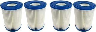Fenengcheng - Elemento de filtro universal II – Apto para los filtros de piscina Bestway – Adecuado para Intex II de tipo (4 piezas)