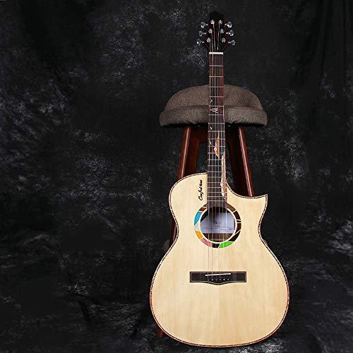 Miiliedy 41 Inch AC Barrel Sharp Corner Cutaway Acoustic Folk Guitar 6...