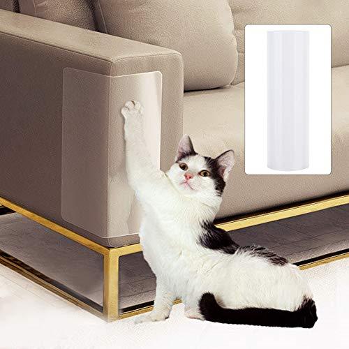 Wifehelper 2 Unids Sofá Protectora Gato Anti-arañazos Etiqueta de Protección de Muebles Scratch Guard Mat Stop Scratching Cats Muebles Defender(S)