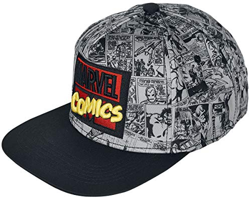 Marvel Comics Männer Cap grau 100% Polyacryl Fan-Merch, Film, Comics, Superhelden, TV-Serien