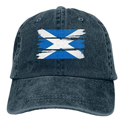 Generic Männer Frauen Einstellbare Denim Stoff Baseball Cap Schottland Flagge Papa Hut