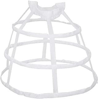Wedding Bridal Ruffles Crinoline Slip Underskirt Balain Women 3 Hoops Petticoat Hollow Out Birdcage Skirt