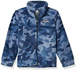 Columbia Boys' Big Zing III Fleece Jacket, Collegiate Navy Trade Camo, Medium