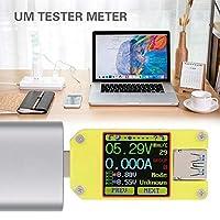パワーバンクモニターのUSBマルチメーター容量APP USB 3.0カラースクリーンテスター用安全バッテリー電流メーター(UM34C)