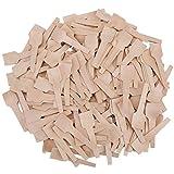 Mini Cucharas de Madera para Manualidades Cucharas de Madera Cubiertos Biodegradable Madera Natural Helado Café Té Cuchara Eco-Friendly Cubiertos Cucharas Para Miel Azúcar Mermelada Mostaza 100 Piezas