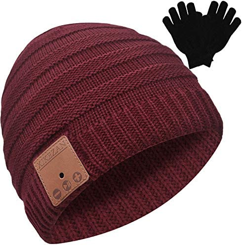 Bluetooth Beanie Novelty Headwear Christmas Stocking Stuffer Gifts for Men Women Dark Red product image