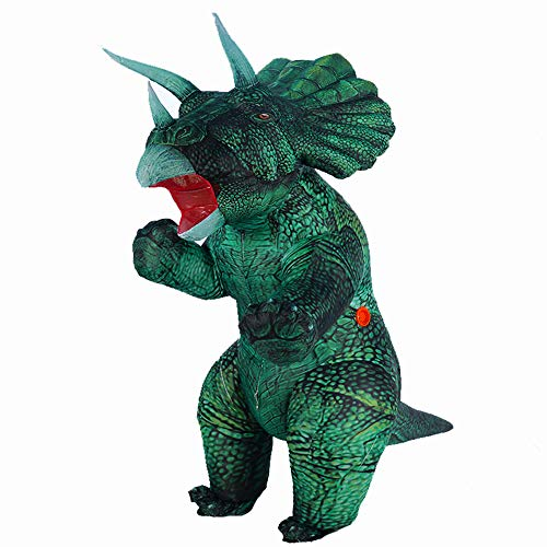Inflatable Dinosaur Costume Blow up Triceratops Costumes for AdultsFancy Dino Onesies Party Halloween Cosplay Costume