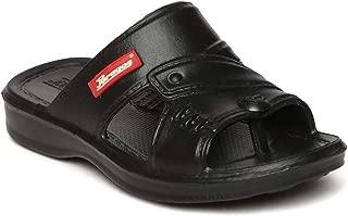 PARAGON Boy's Black Slippers-13 Kids UK (32 EU) (A1EV1190CBLK00013G95)