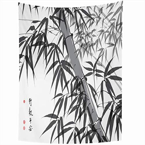 Wandteppich Wandbehang Asiatische Bambustinte Malerei Übersetzung Wohlbefinden Natur Stempel Parks Pinsel Orientalischer Strich Alte Wohnkultur Wandteppiche Kunst für Wohnzimmer Schlafzimmer Wohnheim