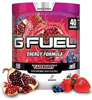 G Fuel Fazeberry Tub (40 Servings) Elite Energy and Endurance Formula