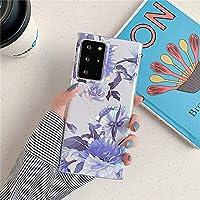 Samsung A51 A71 A50 A70 Note 20 Ultra A40 A21S A52 A72 ソフトな落下防止保護カバー、style9、S21Ultra に適した大理石のシリコンフラワー ハーフパック携帯電話ケース