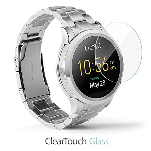Fossil Q Founder Gen 1 Screen Protector, BoxWave [ClearTouch Glass] 9H Tempered Glass Screen Protection for Fossil Q Founder Gen 1, Tailor