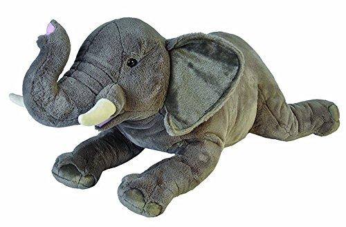 Wild Republic 19552 Jumbo Plüsch Elefant, großes Kuscheltier, Plüschtier, Cuddlekins, 76 cm