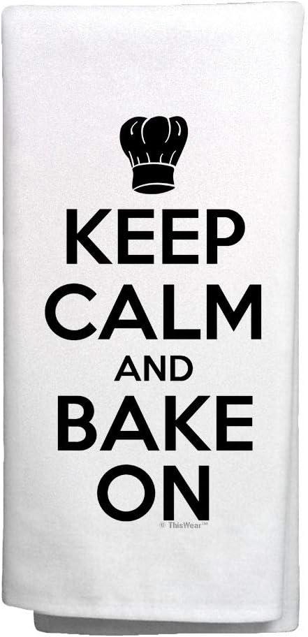 Kitchen Decoration Keep Calm and Fashion Bake Towel Dishcloth 6 Trust On Hand