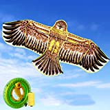 ZCFXGHH Vuelo De La Cometa Juguete Adulto del Águila De Kite-Infantil, Juegos Al Aire Libre Beach Park, Regalo Hermoso para Niños Y Niñas 180 * 80Cm (70.86 * 31.49In),Kite+800m Line