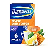 Theraflu Nighttime Severe Cold and Cough Hot Liquid Powder Infused with Chamomile and White Tea,...