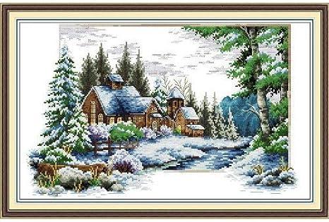 Happy Forever Cross Stitch,Scenery snow scene 1