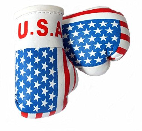 Mini Boxhandschuhe USA/AMERIKA, 1 Paar (2 Stück) Miniboxhandschuhe z. B. für Auto-Innenspiegel