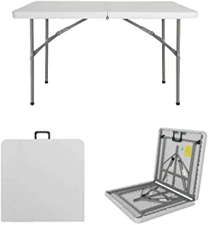 ZRL77y Table Folding Dining Desk Portable Multifunction Simple Rectangle Learn Desk Household Outdoor Workstation Stall (C...