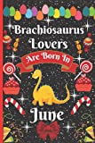 Brachiosaurus Lovers Are Born In June: Cute Brachiosaurus College Ruled Notebook. Pretty Lined Journal & Diary for Writing & Note Taking for Girls and ... day, Brachiosaurus notebook, gift for women