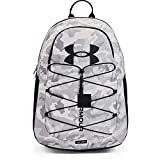 Under Armour Adult Hustle Sport Backpack , White (100)/Black , One Size Fits All
