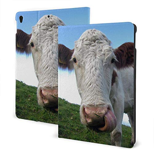 Funny Animal Hereford Cattle Case for Ipad Air 3rd Gen 10.5' 2019 / Ipad Pro 10.5' 2017 Multi-Angle Folio Stand Auto Sleep/Wake for Ipad 10.5 Inch Tablet-Funny Animal Hereford Cattle-One Size