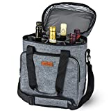 Freshore Insulated Wine Carrier 6 Flasche Tasche Tote - Tragbare Reise Padded Cooler Tragetasche...