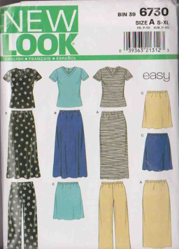 6469 MISSES/' EASY JUST 4 KNITS DRESS  Sewing pattern NEW LOOK Sizes 8-20