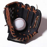 少年野球 軟式 グローブ 男性野球グローブキッズトレーニングキャッチャーソフトボール野球グローブアダルト野球装置野球用手袋 (色 : 褐色, Size : 11.5 inch)