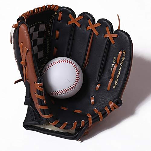 Lwieui Guante de béisbol Hombres Guante de béisbol Niños Entrenamiento Catcher Softbol Guante de Béisbol Adulto Equipo de Béisbol Guantes de Béisbol (Color : Marrón, Size : 12.5 Inch)