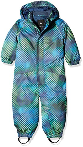 NAME IT Baby-Jungen NITSLOPE Snowsuit AOP MZ B FO Schneeanzug, Mehrfarbig (Dress Blues Dress Blues), 80