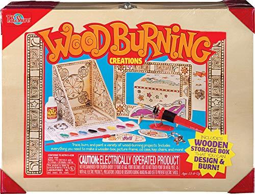 Bendon Wood Burning Creations Box Set Including Paints, Wood Burning Wand, Design Sheets TS Shure 50444, Multicolor