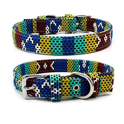 YAOJII 1 Stück Personalisierbares Hundehalsband aus Segeltuch für kleine und mittelgroße Hunde, O, Large