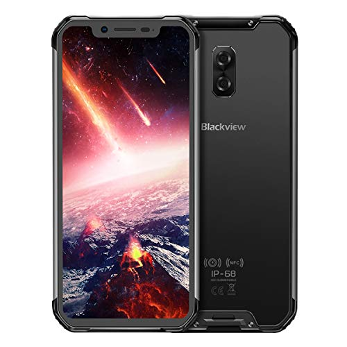 """Rugged Smartphone Unlocked Blackview BV9600,Android 9.0 4G LTE Cell Phone,6.21"""" 19:9 FHD AMOLED Display,AI Octa Cores 4GB+64GB,IP68/IP69K Waterproof,5580mAh Battery,NFC,Wireless Charging (Grey)"""