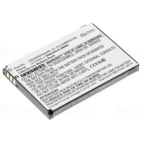 cellePhone Akku Li-Ion kompatibel mit Doro HandlePlus 334 334GSM - PhoneEasy 338 342 345 505 (Ersatz für 01.10.CAREP0103)