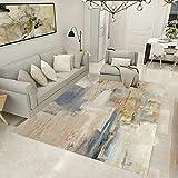 Pgron Alfombra Salón Sala de Estar Abstracta Alfombra de Dormitorio Suave Antideslizante de Terciopelo de Cristal Suave y Agradable para la Piel,140×200cm