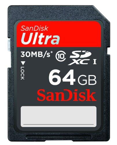 SanDisk Ultra SDXC 64GB UHS-I Class 10 Speicherkarte bis zu 30MB/s lesen