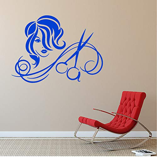 Preisvergleich Produktbild Zxfcczxf Vinyl Wandtattoo Friseur Salon Haarschnitt Schere Frisur Aufkleber 42 * 57 Cm