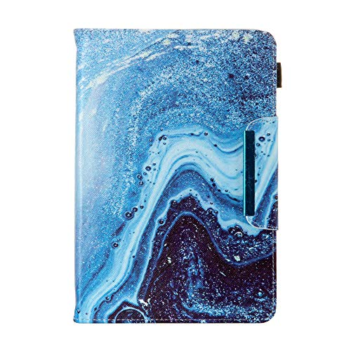 Universal Case for 7 Inch Tablet, Techcircle Light Stand Folio Magnetic Cover Case for RCA Voyager 7, Lenovo Tab 7', Samsung Galaxy Tab A 7.0, Fire 7 & Most 7.0-inch Tablet Computers, Blue Wave Marble