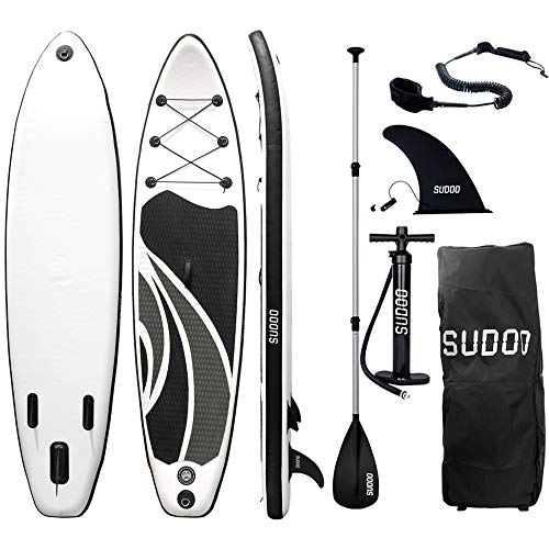 Triclicks Tabla Hinchable Paddle Surf/Sup Paddel Surf con Bomba, Mochila, Aleta Central Desprendible, Kit de Reparación, Remo Ajustable, La Cinta para Atar al Pie(300 * 75 * 15cm-Grosor) (Style 2)