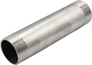 Instalaciones de tuber/ías roscadas extensi/ón roscada Conectores de Tubos de Ajustar el Adaptador de Acero Inoxidable 3//4