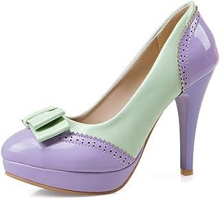 BalaMasa Womens APL12096 Pu Platform Heels