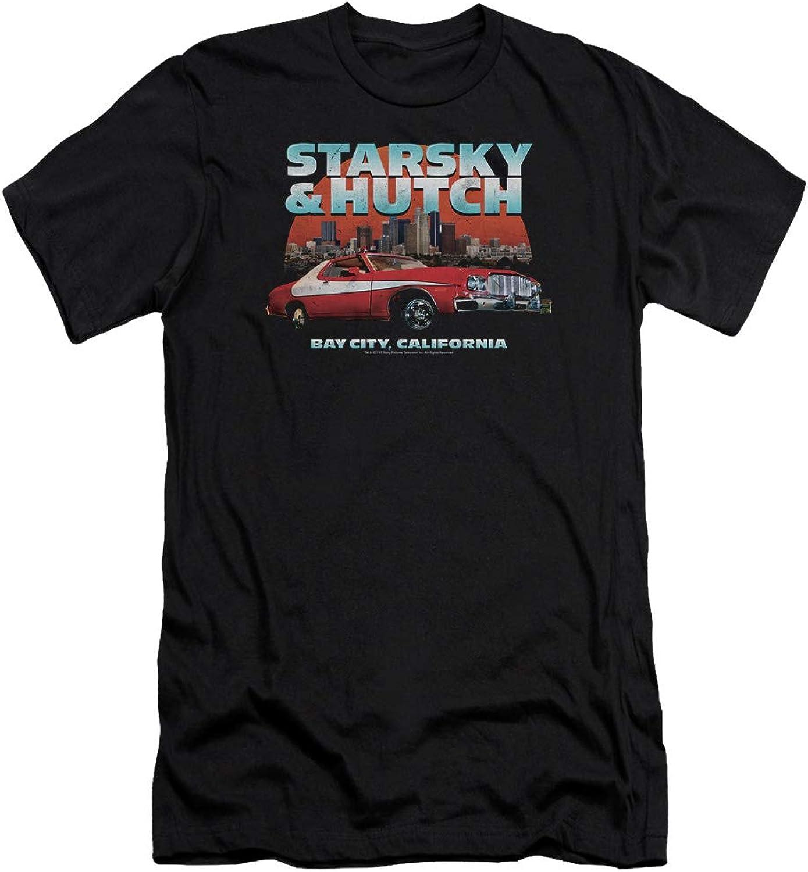 Starsky and Hutch  Mens Bay City Premium Slim Fit TShirt